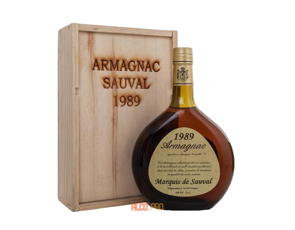 Арманьяк Marquis de Sauval 1989 арманьяк Маркиз де Соваль 1989 года
