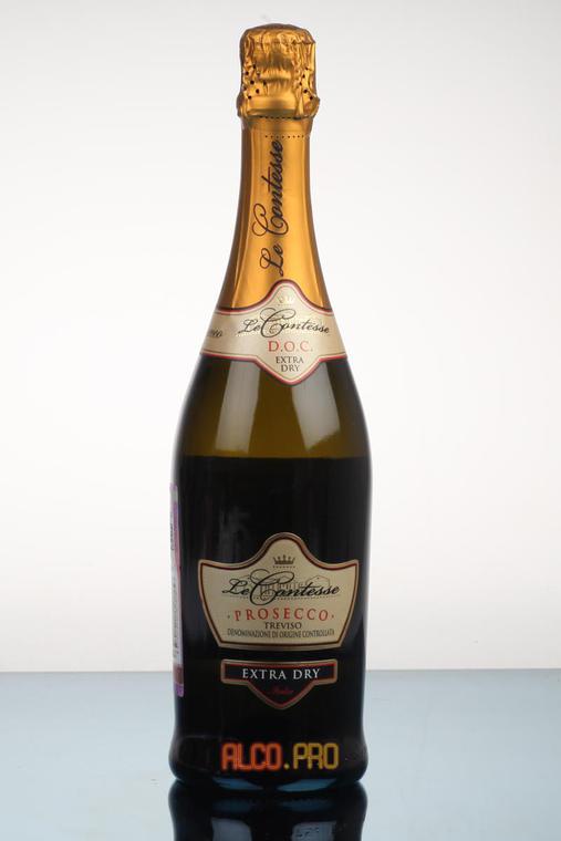 Le Contesse Prosecco Extra Dry Treviso DOC Шампанское Ле Контессе Просекко Экстра Драй Тревизо ДОК